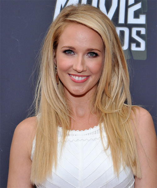 Anna Camp Long Straight Hairstyle - Light Blonde (Golden)