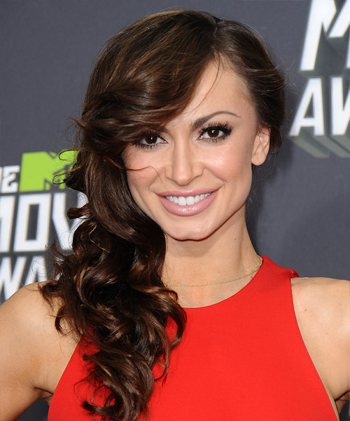Karina Smirnoff Long Wavy Formal Hairstyle