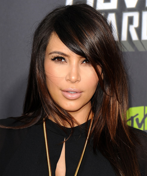 Kim Kardashian Long Straight Formal