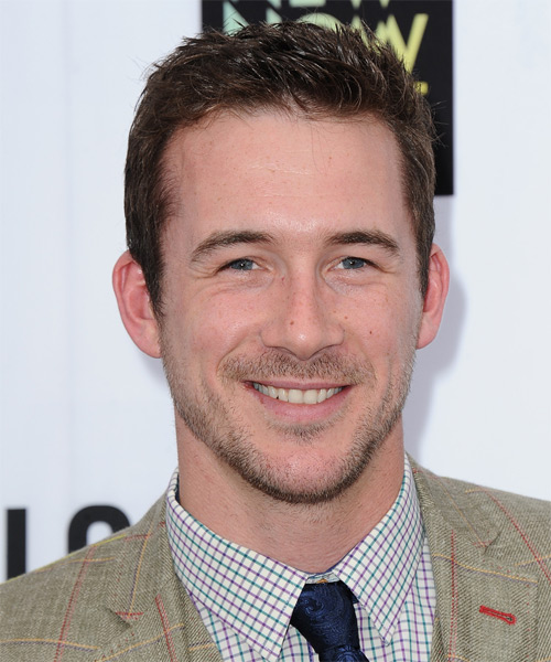 Barry Sloane Short Straight Hairstyle - Medium Brunette (Chocolate)