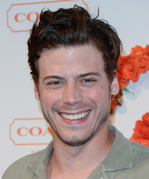 Francois Arnaud Short Straight Casual Hairstyle - Medium Brunette Hair Color