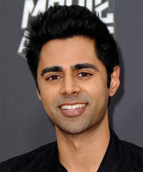 Hasan Minhaj Short Straight Hairstyle - Black