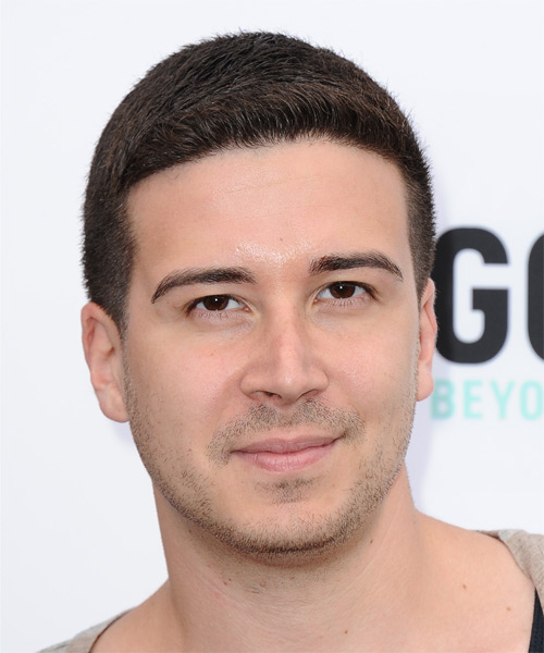 Vinny Guadagnino Short Straight Hairstyle - Medium Brunette (Chocolate)