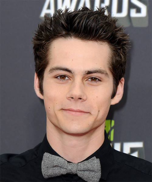 Dylan OBrien Short Straight Hairstyle - Dark Brunette