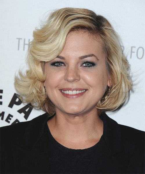 Kirsten Storms Short Wavy Formal Hairstyle - Light Blonde Hair Color