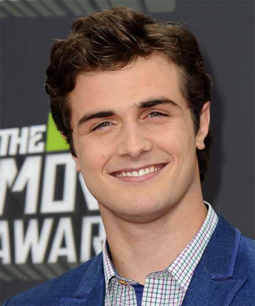 Beau Mirchoff Short Wavy Formal Hairstyle - Dark Brunette Hair Color