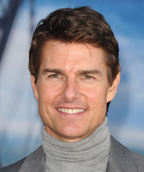 Tom Cruise Short Straight Hairstyle - Medium Brunette (Chestnut)