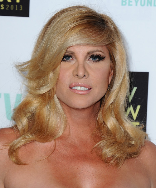 Candis Cayne Long Straight Formal Hairstyle - Medium Blonde (Golden) Hair Color