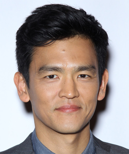 John Cho Short Straight Hairstyle - Black (Ash)