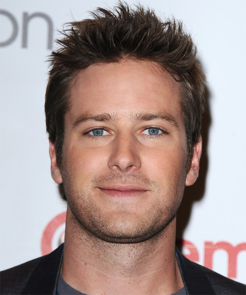 Armie Hammer Short Straight Casual Hairstyle - Dark Brunette Hair Color