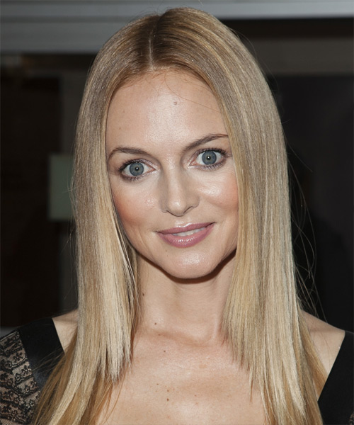Heather Graham Long Straight Hairstyle - Medium Blonde (Ash)