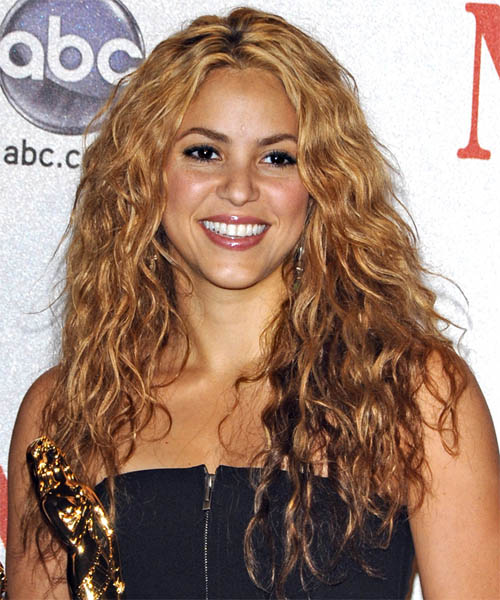 Shakira Long Curly Hairstyle