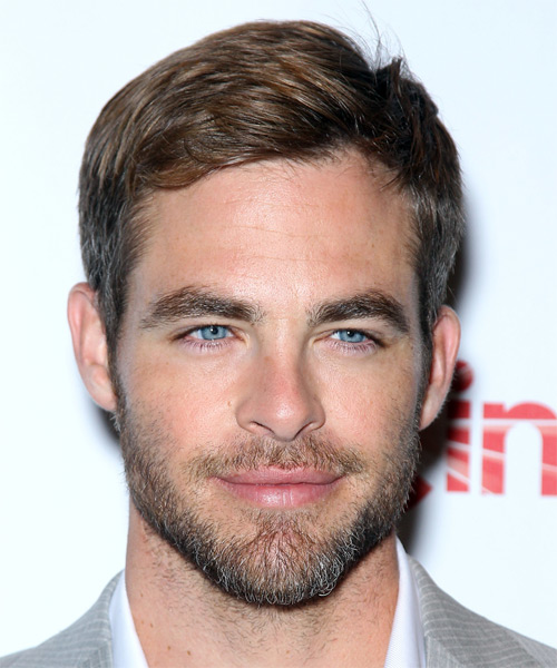 Chris Pine Short Straight Casual Hairstyle - Light Brunette Hair Color