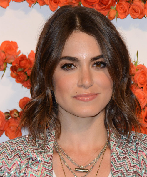 Nikki Reed Medium Wavy Hairstyle