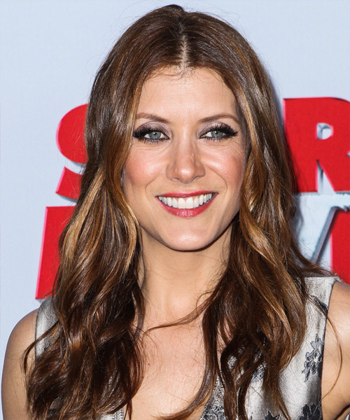 Kate Walsh Long Wavy Casual Hairstyle - Medium Brunette Hair Color