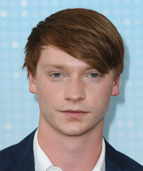 Calum Worthy Medium Straight Casual Hairstyle - Medium Red Hair Color