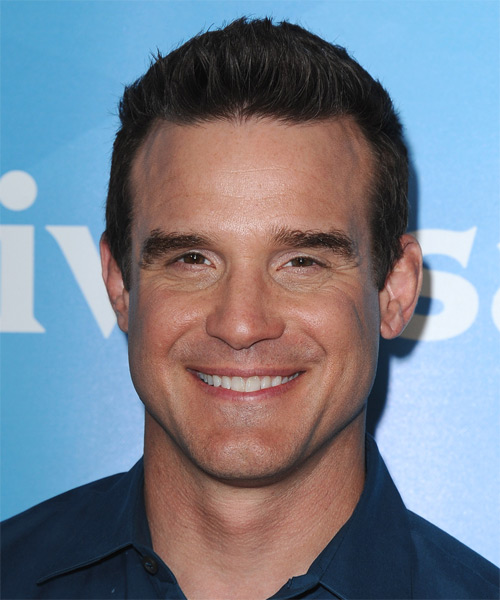 Eddie McClintock Short Straight Hairstyle - Dark Brunette