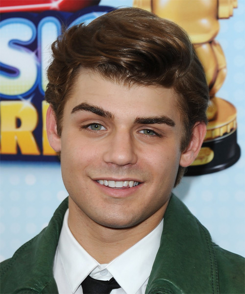 Garrett Clayton Short Wavy Hairstyle - Light Brunette