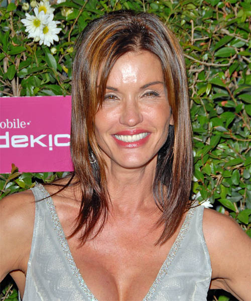 Janice Dickinson - Casual Long Straight Hairstyle