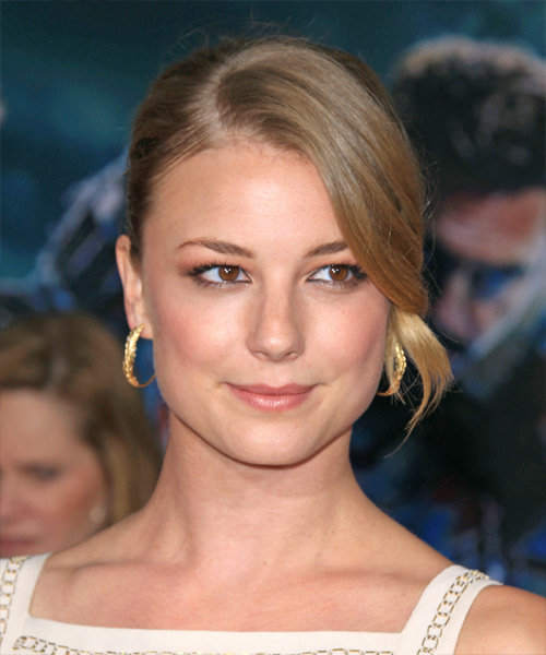 Emily VanCamp Straight Formal Updo Hairstyle - Medium Blonde Hair Color