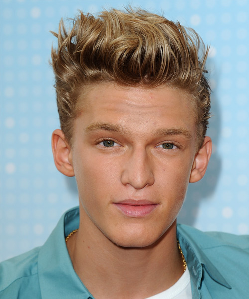 Cody Simpson Short Straight Casual Hairstyle - Medium Blonde (Golden) Hair Color