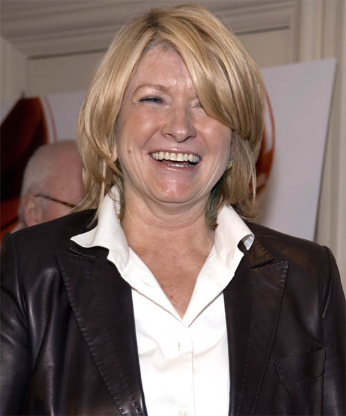 Martha Stewart Medium Straight Casual Hairstyle