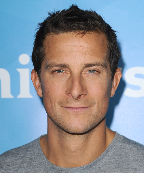 Bear Grylls Short Straight Hairstyle - Dark Brunette