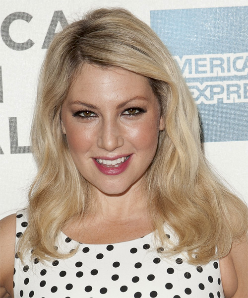 Ari Graynor - Straight  Long Straight Hairstyle - Light Blonde (Champagne)
