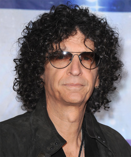 Howard Stern Long Curly Casual Hairstyle - Black Hair Color