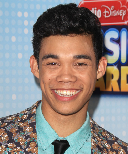 Roshon Fegan Short Wavy Hairstyle - Black