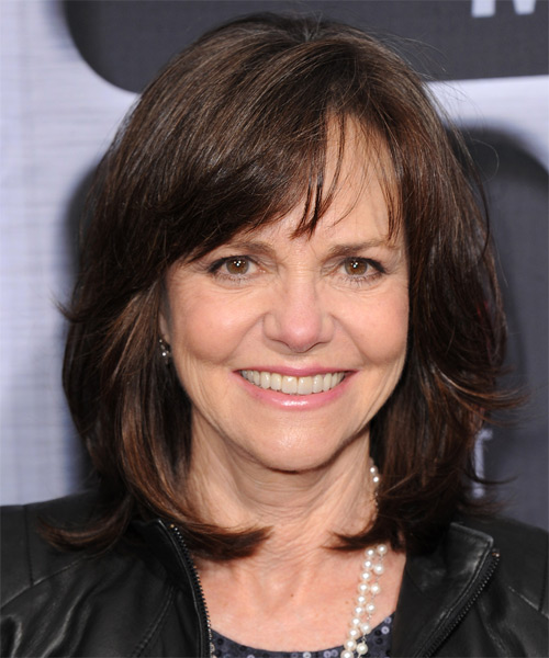Sally Field Medium Straight Formal Hairstyle - Dark Brunette (Mocha) Hair Color