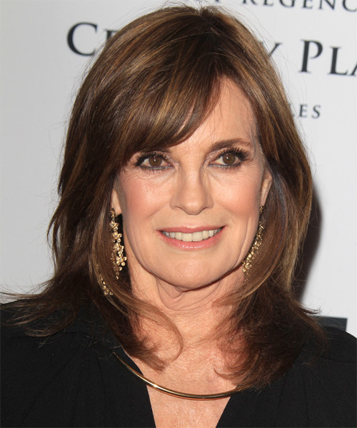 Linda Gray Medium Straight Hairstyle - Medium Brunette