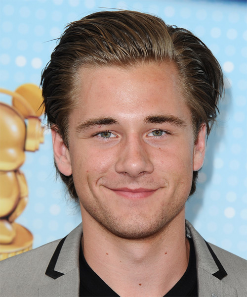 Luke Benward Short Straight Formal Hairstyle - Medium Brunette Hair Color