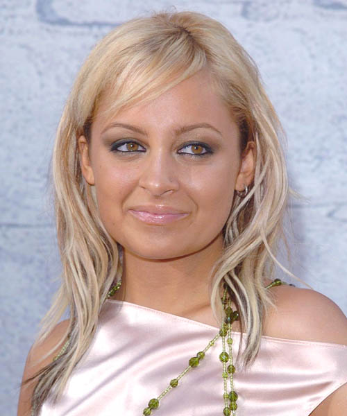 Nicole Richie Long Wavy Hairstyle - Light Blonde (Strawberry)