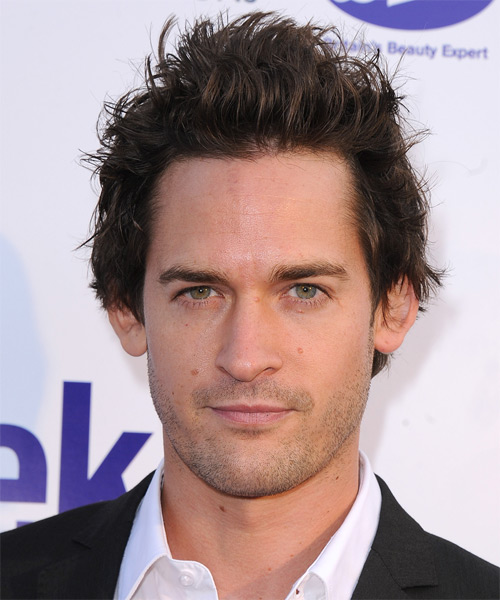 Will Kemp Short Straight Hairstyle - Dark Brunette