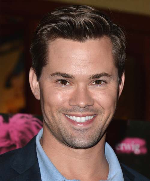 Andrew Rannells Short Straight Formal Hairstyle - Dark Brunette Hair Color