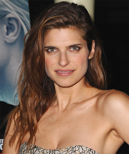Lake Bell Long Straight Casual Hairstyle - Medium Brunette (Auburn) Hair Color
