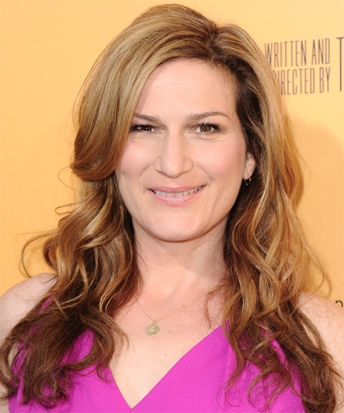 Ana Gasteyer Long Wavy Hairstyle - Dark Blonde