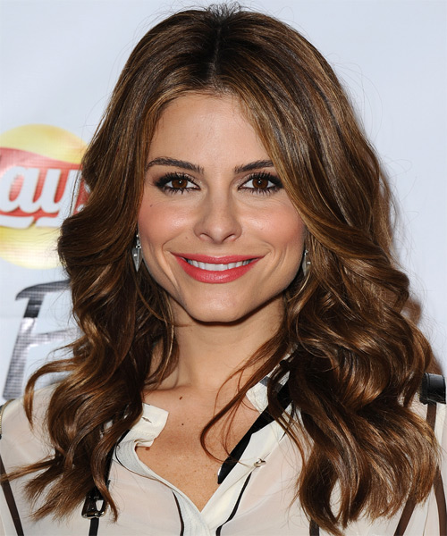 Maria Menounos Long Wavy Hairstyle - Dark Brunette