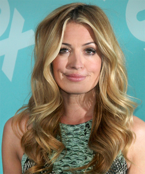 Cat Deeley Long Wavy Formal Hairstyle - Medium Blonde (Golden) Hair Color