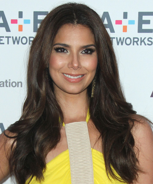 Roselyn Sanchez Long Straight Formal Hairstyle - Dark Brunette Hair Color