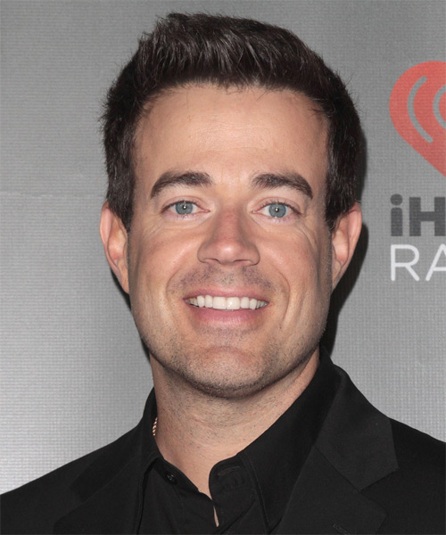 Carson Daly Short Straight Hairstyle - Medium Brunette (Chocolate)