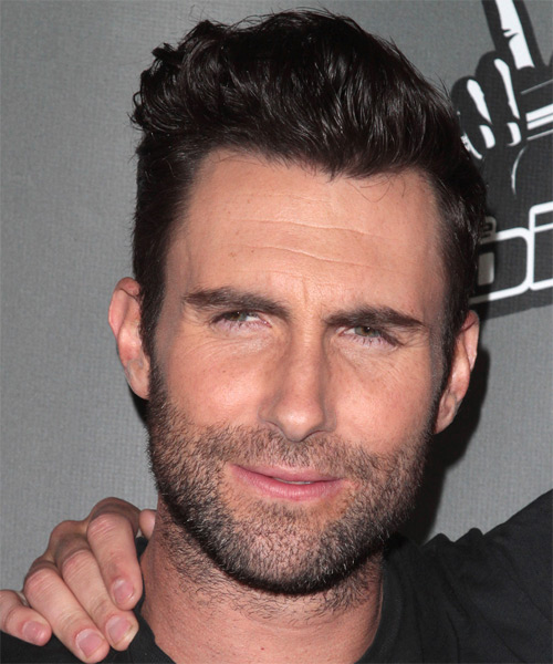 Adam Levine Short Straight Hairstyle - Dark Brunette (Mocha)