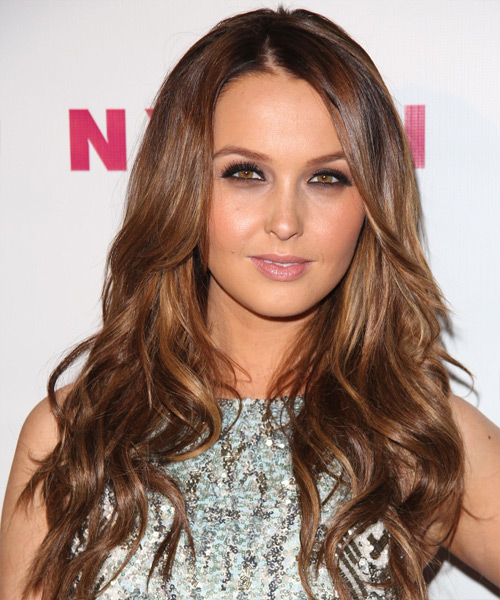 Camilla Luddington Long Wavy Hairstyle