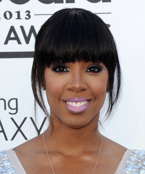 Kelly Rowland Casual Straight Updo Hairstyle