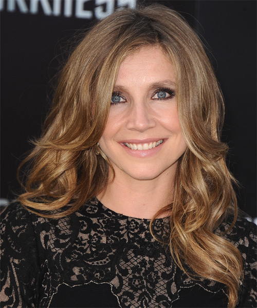 Sarah Chalke Long Wavy Hairstyle - Light Brunette (Caramel)