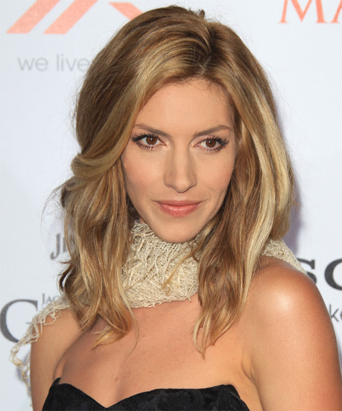 Dawn Olivieri Medium Straight Hairstyle - Medium Blonde