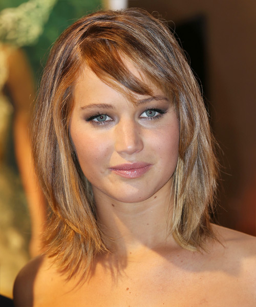 Jennifer Lawrence Medium Straight Casual Hairstyle