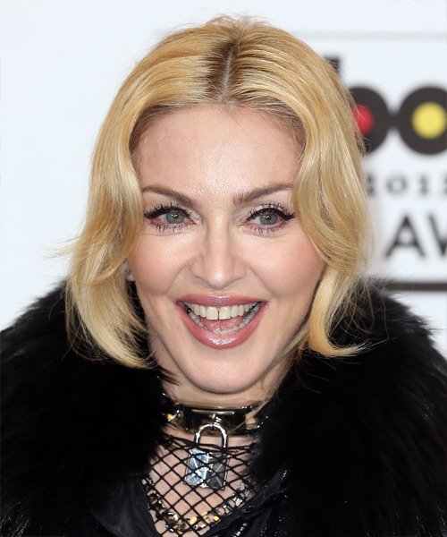 Madonna Straight Formal Updo Hairstyle