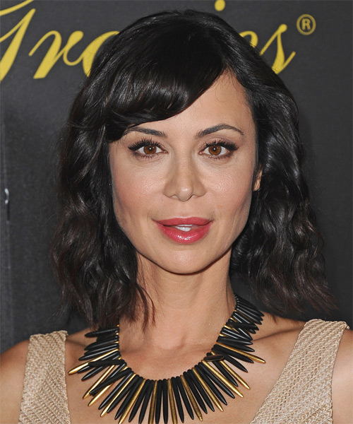 Catherine Bell Medium Wavy Hairstyle